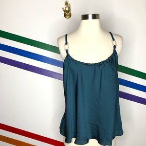 NEW Free People silky tank with acrylic accent
